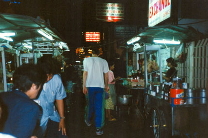 Essenstände Thanon Sukhumvit April 1994
