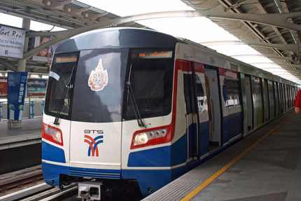 Sky Train am Bahnhof Central / Sathorn März 2012