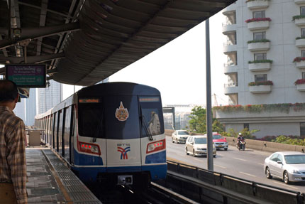 Sky Train in Central / Sathorn März 2012