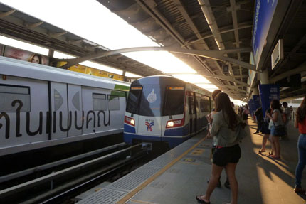 Skytrain in Central / Sathorn März 2012