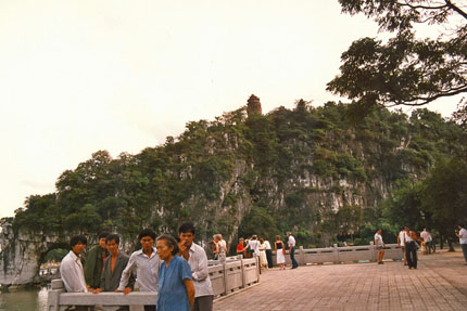 Elefantenrüsselberg in Guilin 1988