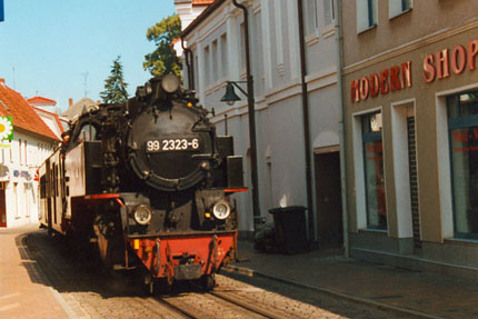 Bäderbahn Molli in Bad Doberan August 2000