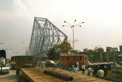 Howrah Bridge Kalkutta 1989
