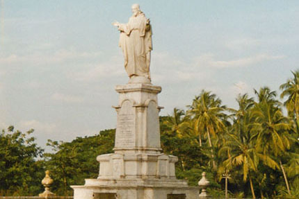 Sacred Heart of Jesus Statue Old Goa 1989