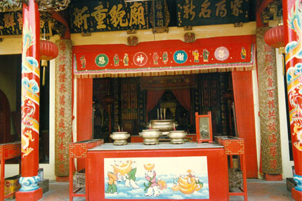 chinesischer Tempel in Malacca 1991
