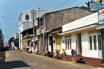 Strasse in Galle 2002